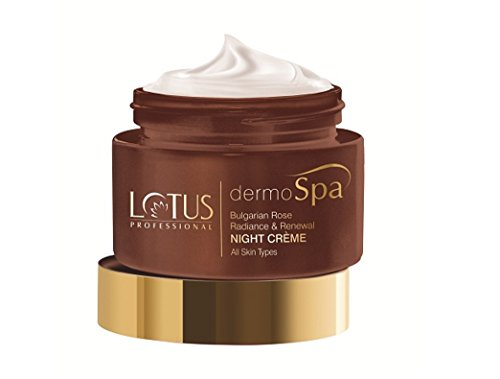 Lotus Professional Dermo Spa Bulgarian Rose Radiance and Renewal Night Creme, 50g 2021 June Free from artificial fragrance and colour Preservative free Potent organic formulation