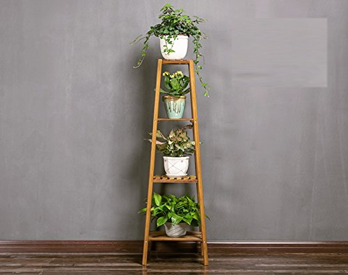 Creative living room wooden flower rack ( Size : 3737120cm ) by Flower racks - xin