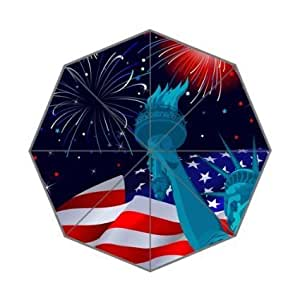 G-smart Original Personalized America Flag And Statue Of Liberty Torch Picture Foldable Umbrella