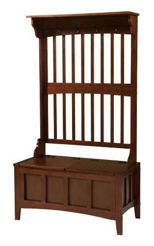 Linon 84017WALC-01-KD-U Hall Tree with Storage Bench, 36
