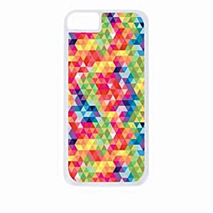 Colorful Prism Pattern - Case for the Apple Iphone 6-Hard White Plastic Outer Shell