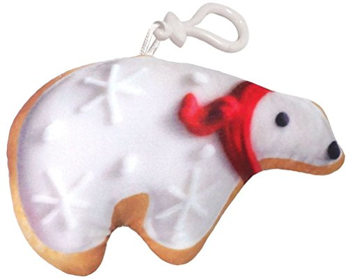 iscream Holiday Cookies Vanilla Scented Polar Bear Cookie Mini Microbead Pillow Backpack Charm ()