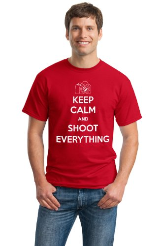 KEEP CALM AND SHOOT EVERYTHING Unisex T-shirt / Cute, Funny Photography Tee