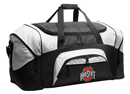 Large OSU Buckeyes Duffel Bag Ohio State University Gym Bags or Suitcase by Broad Bay