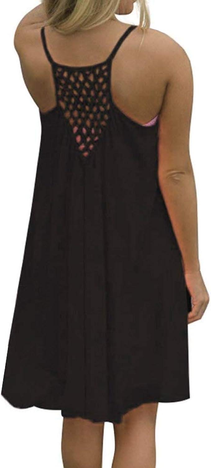 XXX-Large Avondii Womens Chiffon Dress Knee-Length Beach Dress Off Shoulder Summer Beach Tunic Black