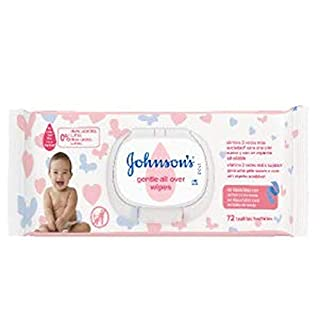 Johnson's Baby Wipes 72 Ud.with Lid (New), Neutral, Medium