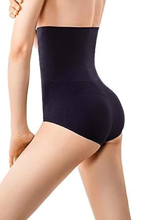 MD Womens Shapewear Firm Tummy Control Briefs Rear And Bottom Body Shaper Small Black