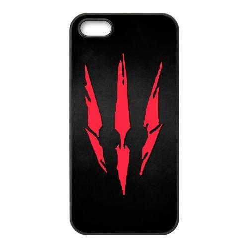 The Witcher New Logo cas RF76KE6 coque iPhone 5 5s de téléphone cellulaire coque N0KY6U9HO