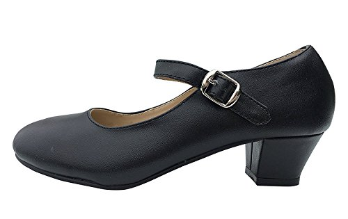 La Senorita Flamenco Shoes Spanish Shoes Black (7