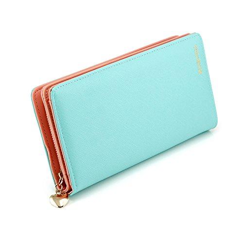 Clutch Wallet Zip Bag Card Holder (Blue) - 7