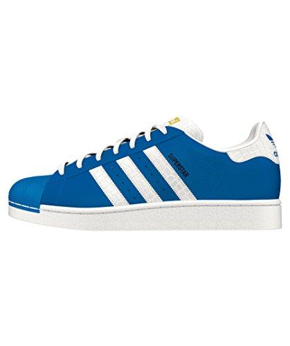 adidas Originals Herren Superstar Foundation Casual Sneaker Blau