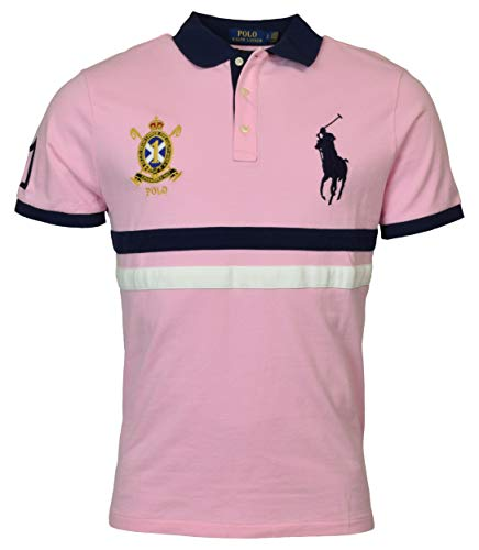 Polo Ralph Lauren Mens Big Pony Custom Slim Fit Mesh Crest Polo (XX-Large, ()