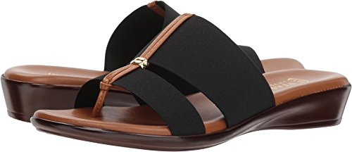 ITALIAN Shoemakers Women's Milla Slide Sandal, Black, 8.5 M US
