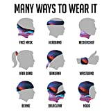 Seamless Face Mask Nebula Space Face Scarf Bandanas Mask For Men And Women——Outdoors, Festivals, Sports