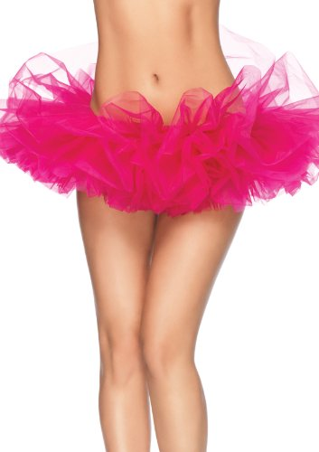 Leg Avenue Women's Organza Tutu, Hot Pink, One Size -