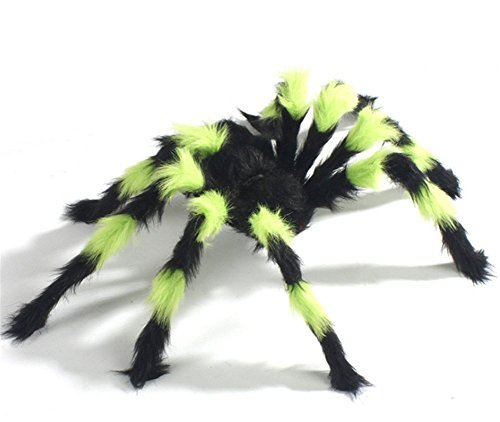 Halloween Decoration,Large Hairy Spider with Pliable Legs for Yard Window Office House (multicolor (Halloween 90)
