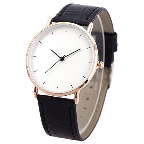 Wrist Watch Ultra-thin Mens Minimalist Black SIBOSUN Quartz Leather Strap Fasion Business Casual Anolog