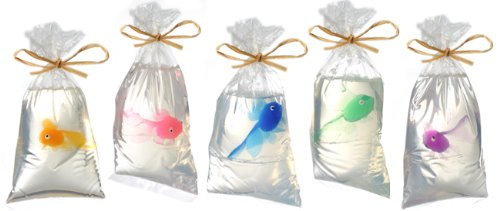 - 5 My Pet Fish Soap in a Bag- Party Favor, Carnival Prize, Fish soap Game Prize