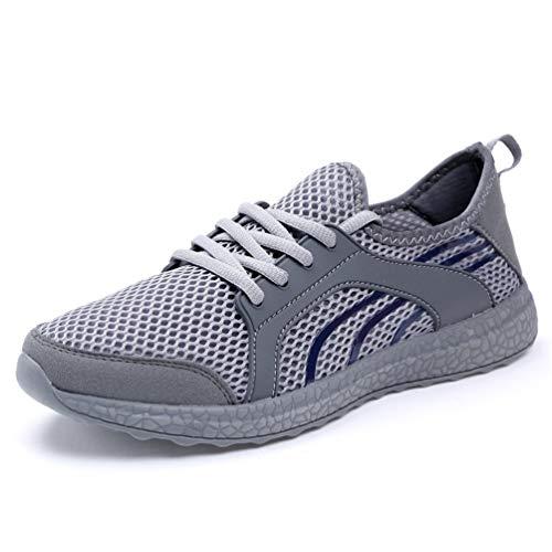 Gris Unisex Oscuro Casuales Zapatos otoño Encaje Verano Zapatos 68Bqp