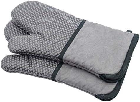 Lucky Meet guantes aislantes de silicona de algodón para horno,antiquemaduras,antiderrapantes,de alta temperatura,guantes de aislamiento para horno,microondas,aislamiento,guantes de seguridad: Amazon.es: Hogar