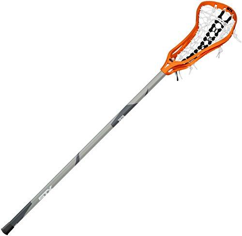 STX Lacrosse Women's CRUX 300 Complete Stick Orange Head with Black Runway Pocket on STX 7075 Alloy Shaft by STX
