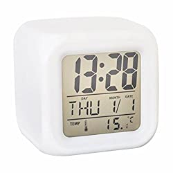 Child Clock Digital Alarm clocks 7 Colors Changing Digital Alarm Clock LED Change LCD