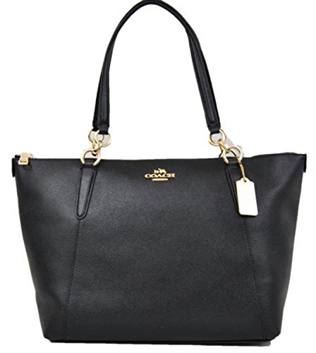COACH Crossgrain Ava Tote Shoulder Bag Black