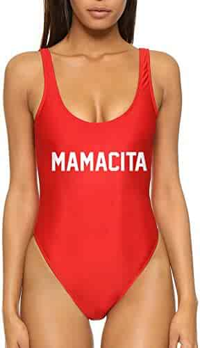4e8b060aef6f7 Dixperfect Baywatch-Inspired One Piece Swimsuit with High Cut and Low Back  for Women