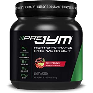 Pre JYM Pre Workout Powder – BCAAs, Creatine HCI, Citrulline Malate, Beta-Alanine, Betaine, and More   JYM Supplement Science   Pink Lemonade Flavor, 20 Servings