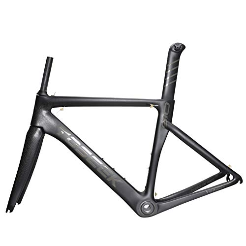 Aon-MX T800 Carbon Road Bike Frame Full Carbon Bike Frame 700C Carbon Frame with Seat Tube Front Fork Cycling Bicycle frameset Super Light 1200g,48cm/XS ()