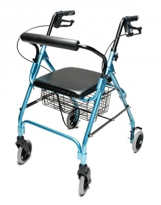 Lumex Walkabout Lite Four Wheel Rollator, Aqua by Lumex