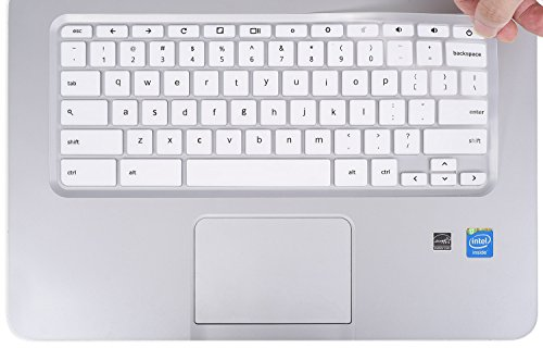 Keyboard Cover for HP Chromebook 14-inch Laptop | HP Chromebook 14-ak Series | HP Chromebook 14-ca Series | HP Chromebook 14 G2 G3 G4 Series, White