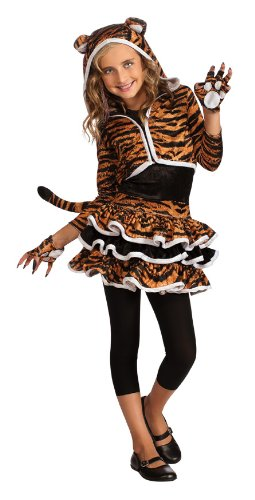 Drama Queens Tigress Hoodie Costume, (Tiger Girl Costume)