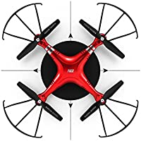 Ikevan Wide Angle Lens HD Camera Quadcopter RC Drone WiFi FPV Live Helicopter Hover (Red)