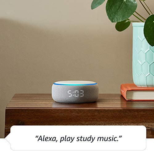 Echo Dot (3rd Gen) – Smart speaker with clock and Alexa – Sandstone 412tr 2BP2PBL
