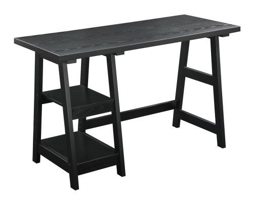 Birch Office Table (Convenience Concepts Designs2Go Trestle Desk, Black)