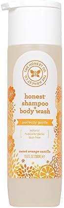 Honest Shampoo & Body Wash, Perfectly Gentle Sweet Orange Vanilla, 10 Ounce