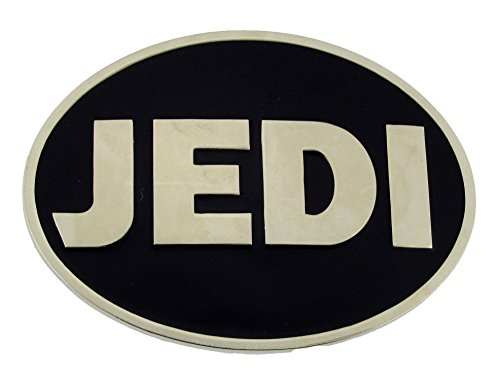 (Star Wars Belt Buckle Jedi Logo Black Silver Oval Finished Rock Rebel)
