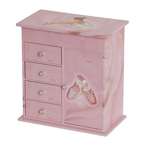 Callie Pink Ballerina Ballet Shoes Music Jewelry Box - Plays Tune Waltz of the Flowers