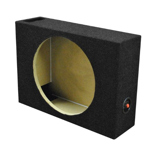 Qpower Single 12'' Shallow Vented Woofer Box by Q Power