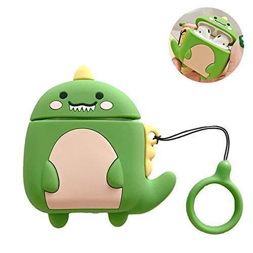 Cute Airpods Case Protective Silicone Cover Dinosaur Adorable