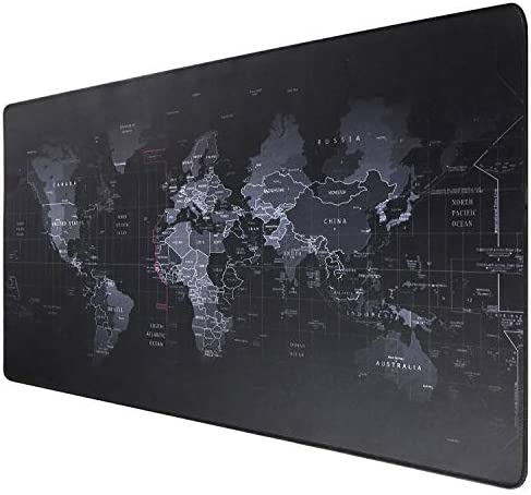 Ruifengsheng Extended Gaming Mouse Pad XXL Mouse Mat Large Mouse Pad Non-Slip Professional Precision Tracking Surface (35.4 x 15.7) 90x40 (90x40 R11)