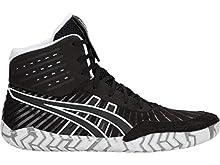 ASICS Men's Aggressor 4 Wrestling Shoes, 10M, Black/Black