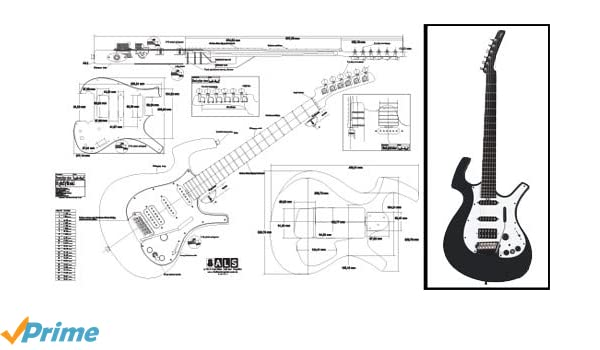 amazon com plan of a parker nitefly electric guitar full scale rh amazon com Parker Fly Parker Guitars Are Made Where