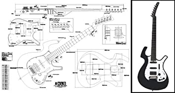 amazon com plan of a parker nitefly electric guitar full scale rh amazon com