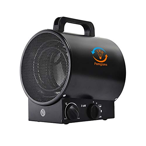 MODERN LIFE 3000W / 3KW Industrial Fan Heater, Electric Space Fan Heater...