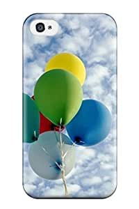 Perfect Fit DgLzpqC1327LqeGs Collored Baloons Rise To The Sky Case For Iphone - 4/4s