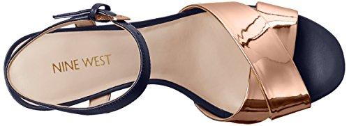 Nine West de la mujer durante sintético vestido sandalia Pink-Navy