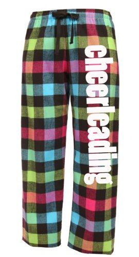 Cheerleading Drawstring Flannel Pant Adult Small Neon (Cheer Flannel)