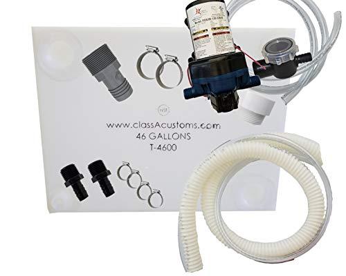 (Class A Customs 46 Gallon Water Tank & Plumbing Kit & WFCO 12 Volt Pump T-4600-BPK-12WFCO)